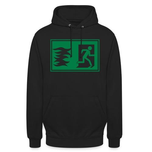 Notausgang / Feueralarm Symbol - Unisex Hoodie