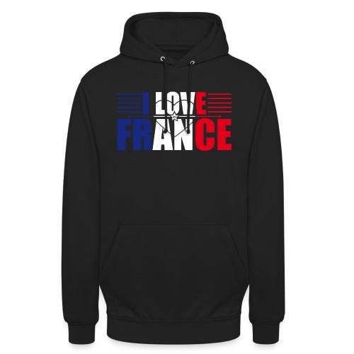 love france - Sweat-shirt à capuche unisexe