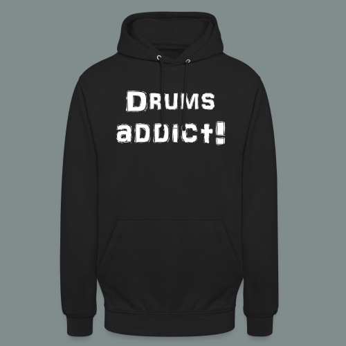Drums addict white - Sweat-shirt à capuche unisexe