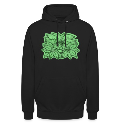 Green Man for Pagan Global Warming/Climate Change - Unisex Hoodie