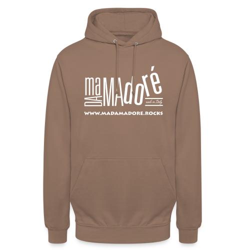 T-Shirt Premium - Uomo - Logo Bianco S + Sito - Felpa con cappuccio unisex