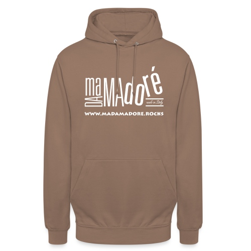 T-Shirt - Uomo - Logo Bianco + Sito - Felpa con cappuccio unisex