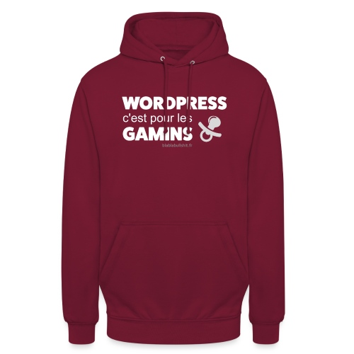 WP c'est pour les gamins - Sweat-shirt à capuche unisexe