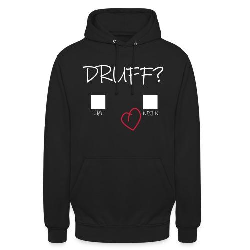 Druff Ja Nein Herz Druffi Afterhour Design - Unisex Hoodie