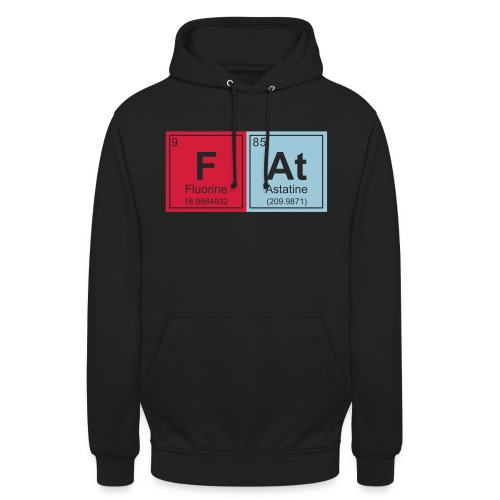Geeky Fat Periodic Elements - Unisex Hoodie