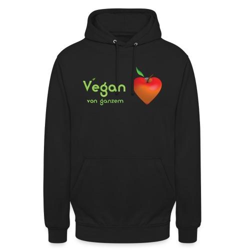 Vegan von ganzem Herzen (rot) - Unisex Hoodie