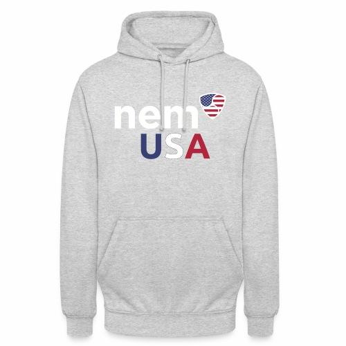 NEM USA white - Felpa con cappuccio unisex