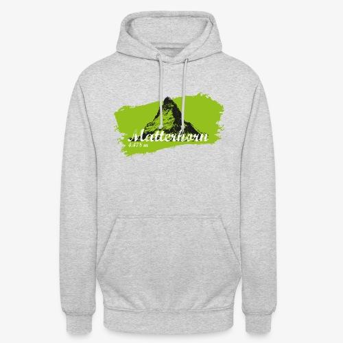Matterhorn - Cervino en verde - Unisex Hoodie
