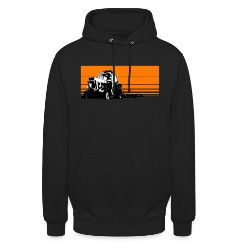 Sunset tractor orange - Felpa con cappuccio unisex
