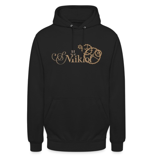 miklof logo gold outlined 3000px - Unisex Hoodie