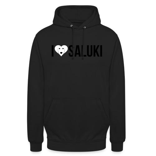 I Love Saluki - Felpa con cappuccio unisex