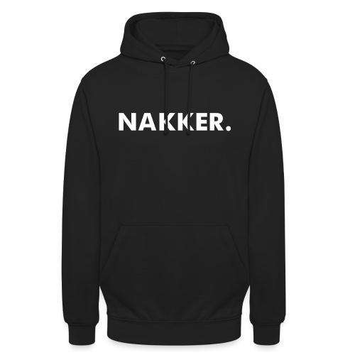 'Nakker' Zwart (Maat S+) - Hoodie unisex