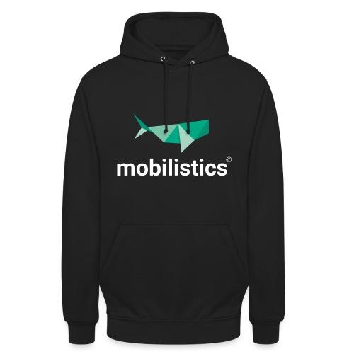mobilistics logo white - Unisex Hoodie