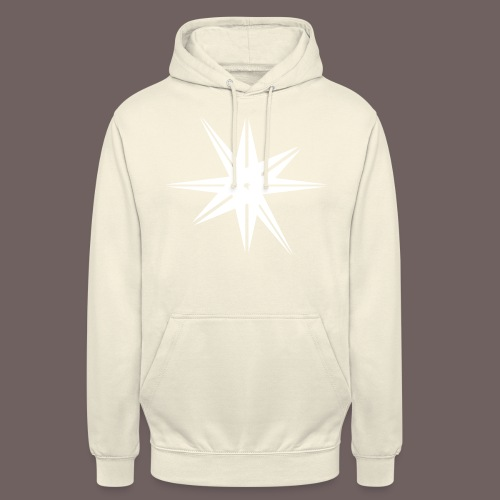 GBIGBO zjebeezjeboo - Rock - Octa Star Blanc - Sweat-shirt à capuche unisexe