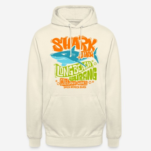 shark surf surfing california - Unisex Hoodie