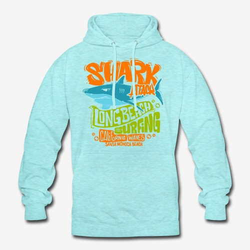 shark surf surfing california - Unisex Hoodie