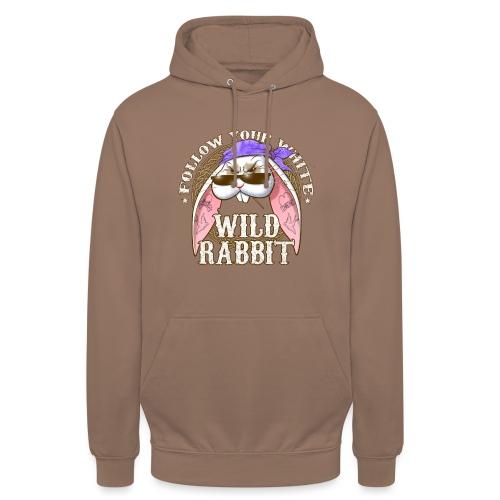 Wild Rabbit - Felpa con cappuccio unisex