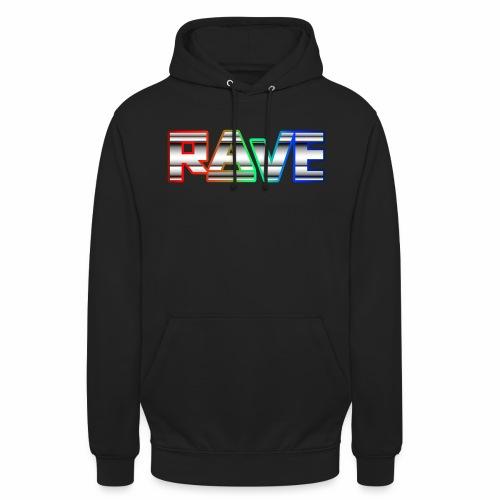 Rave Neon Rainbow Psy Text Techno Family - Unisex Hoodie