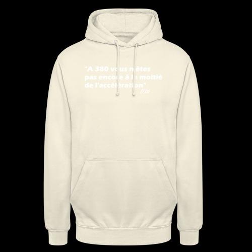 380 (blanc) - Sweat-shirt à capuche unisexe