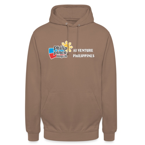 Philippinen-Blog Logo english schwarz/weiss - Unisex Hoodie