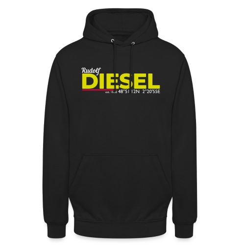 Rudolf Diesel geboren in Paris I Dieselholics - Unisex Hoodie