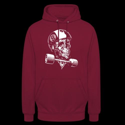 Skull Longboard Rider - negative print - Sweat-shirt à capuche unisexe