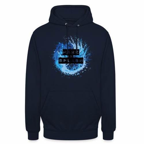 Make a Splash - Aquarell Design in Blau - Unisex Hoodie