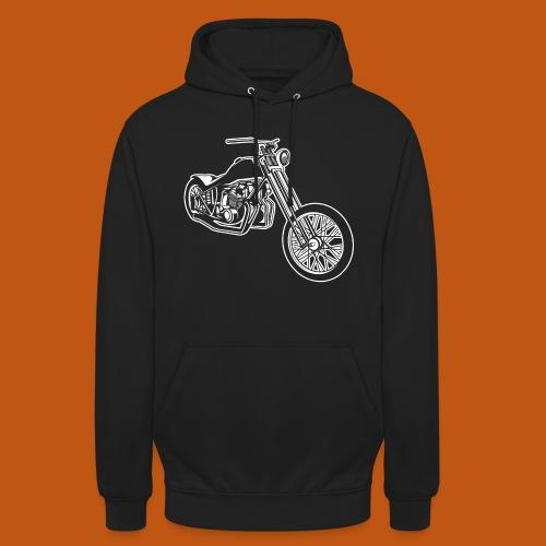 Chopper / Bobber Motorrad 01_weiß - Unisex Hoodie