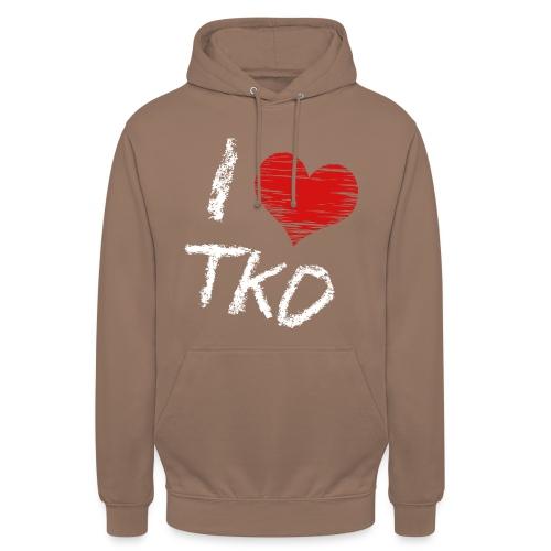 I love tkd letras blancas - Sudadera con capucha unisex