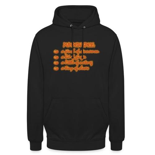 PumpkinSpiceRecipe - Felpa con cappuccio unisex