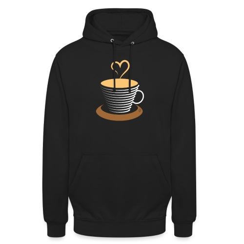 0252 Coffee | Love | Heart | Cup | coffee pot - Unisex Hoodie