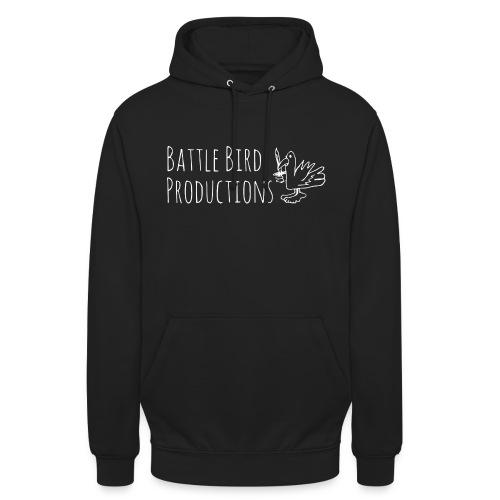Battle Bird Logo (white) - Unisex Hoodie