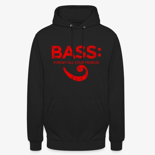 BASS - Forget all your trebles (Vintage/Rot) - Unisex Hoodie