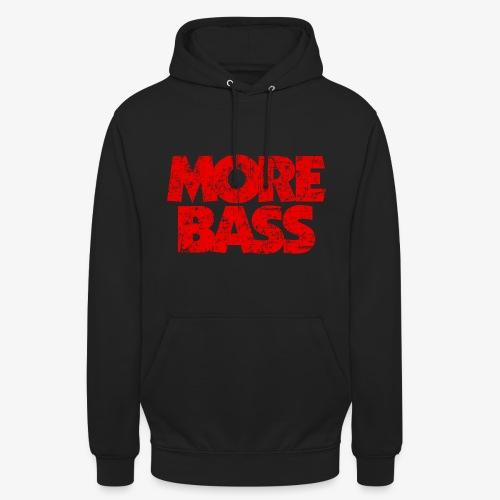 More Bass (Vintage/Rot) Bassist Bassisten - Unisex Hoodie