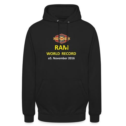 RWR gelb mit Datum (weiß) - Unisex Hoodie