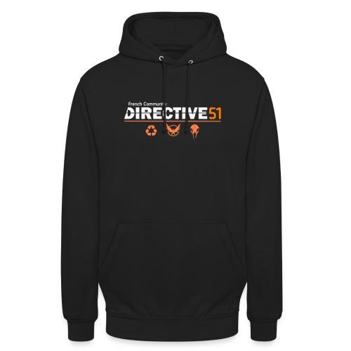 D51recy png - Sweat-shirt à capuche unisexe