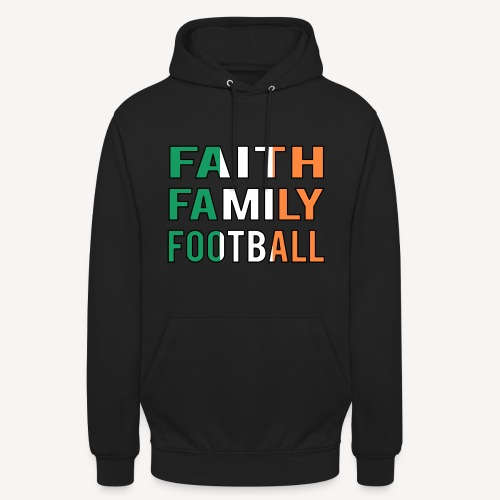 FAITH FAMILY FOOTBALL - Unisex Hoodie