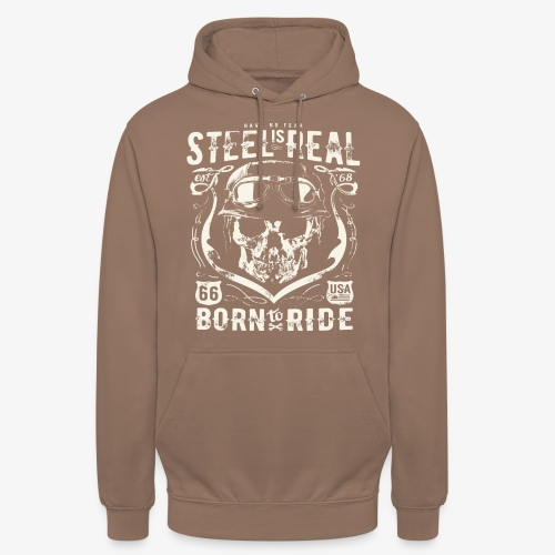Avez-No Fear Is Real Steel Born to Ride is 68 - Sweat-shirt à capuche unisexe