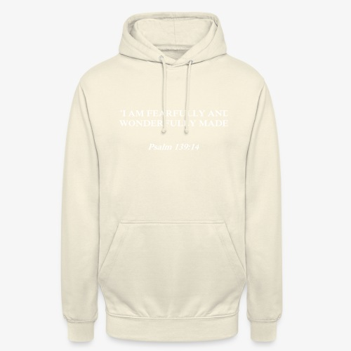 Psalm 139:14 white lettered - Hoodie unisex