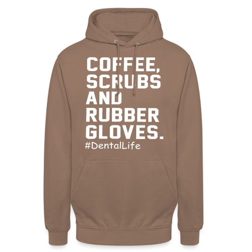 Coffee scrubs and rubber gloves - Unisex Hoodie