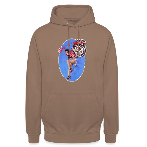 Vintage Rockabilly Butterfly Pin-up Design - Unisex Hoodie