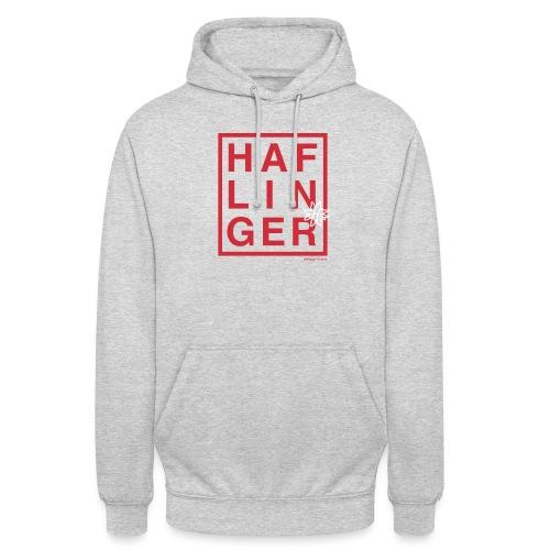 Haflinger Schriftzug / Pferd - Unisex Hoodie