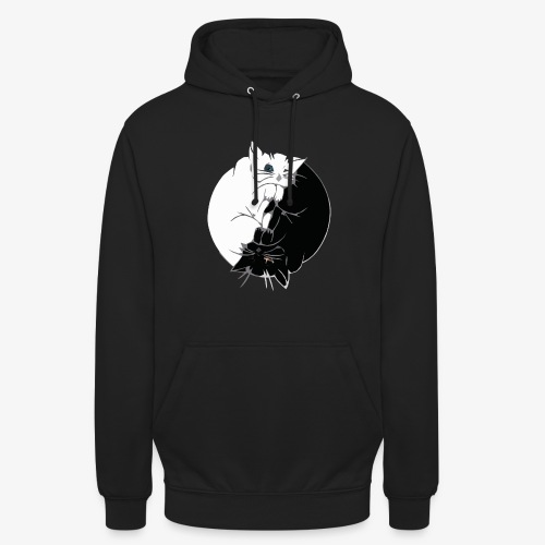 Yin and Yang - Sweat-shirt à capuche unisexe