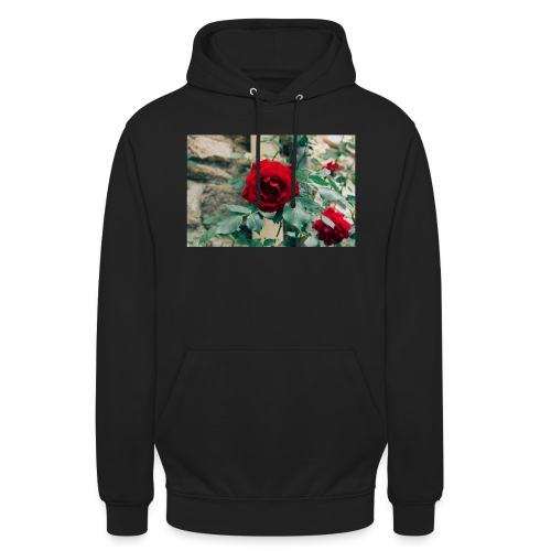 rose2 jpg - Sweat-shirt à capuche unisexe