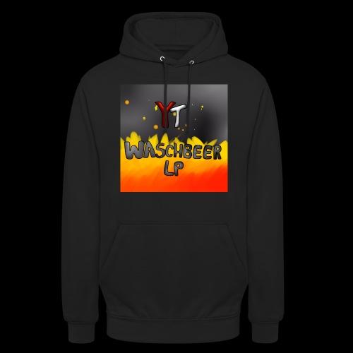 Waschbeer Design 2# Mit Flammen - Unisex Hoodie