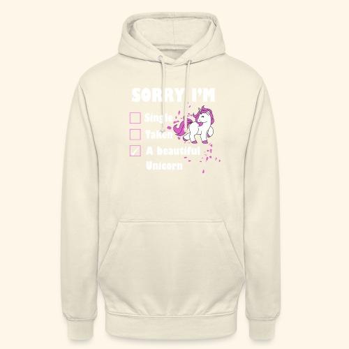 lustiges Beziehung Einhorn T-Shirt - Unisex Hoodie