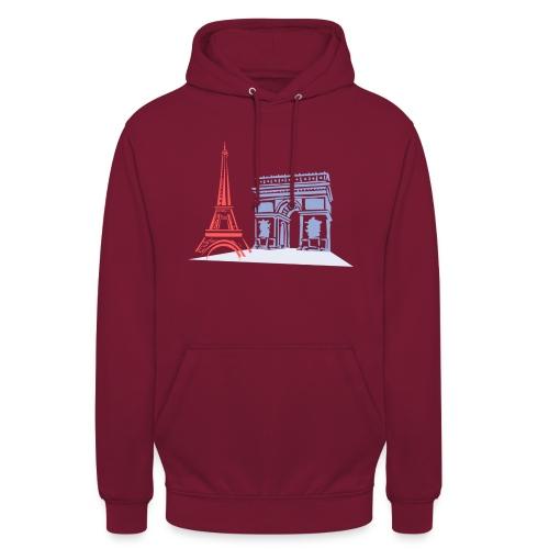 Paris - Sweat-shirt à capuche unisexe