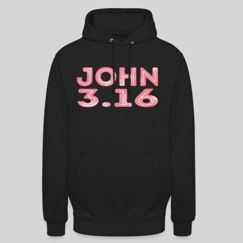 Johannes 3 Vers 16 Bibelversdesign - Unisex Hoodie