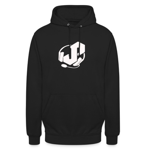 logo white for apparel png - Unisex Hoodie