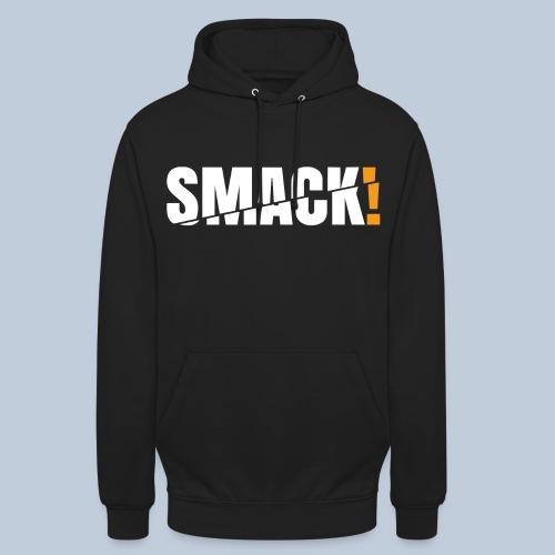 SMACK gross weiss ohne Hintergrund - Unisex Hoodie